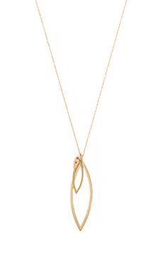 Jennifer Zeuner Elsa Necklace in Yellow Vermeil