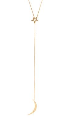 Jennifer Zeuner Sky Lariat Necklace in Yellow Vermeil