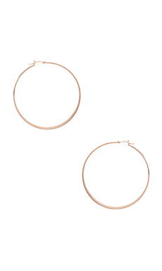 Jennifer Zeuner Olivia Hoop Earrings in Rosegold