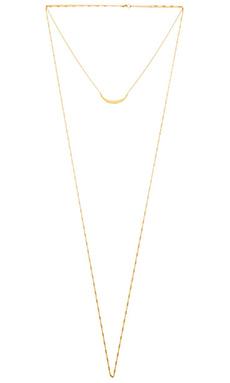 Jennifer Zeuner Pippa Necklace in Yellow Vermeil