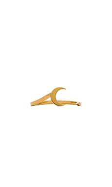Jennifer Zeuner Sky R Ring in Yellow Vermeil