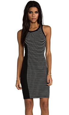 Kain Kidd Dress in Black with Black & White Stripe
