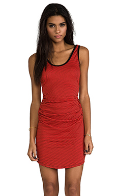 Kain Henley Dress in Cherry Red
