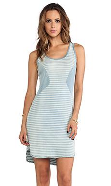 Kain Sea Dress in Light Wash Skinny Stripe