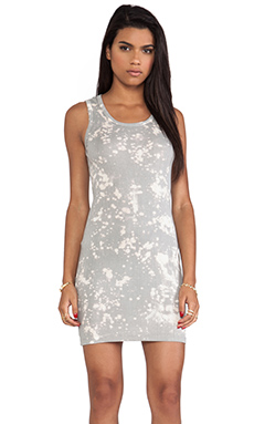 Kain Lindy Dress in Bleach Splattered Elephant Grey