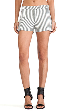 Kain Ani Short in Black/White Vertical Stripe