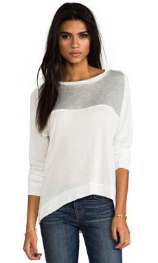 Kain Lamott Sweater in White & Grey Mesh