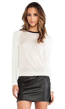 Kain Hiro Sweater in Black & Ivory & White