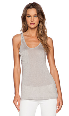 Kain Classic Pocket Tank in Heather Grey