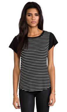 Kain Hurston Tee in Black with White & Black Stripes