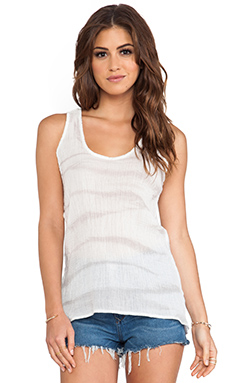 Kain Goldie Tank in Silver Tie Stripe