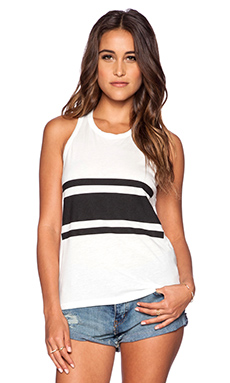 Kain Atona Tank in White & Black