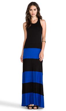 Karina Grimaldi EXCLUSIVE Biscot Sleeveless Maxi in Royal Blue Black