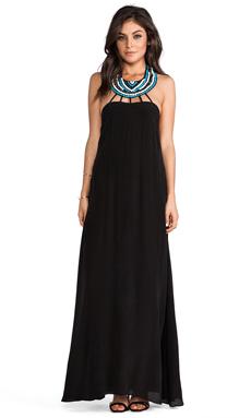 Karina Grimaldi Irenah Beaded Maxi Dress in Black