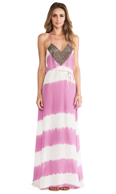 Karina Grimaldi Nassarena Beaded Maxi Dress in Orchid Tie Dye