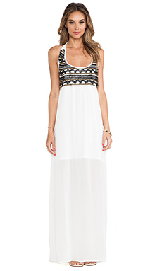 Karina Grimaldi Azaria Beaded Maxi Dress in White