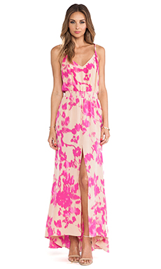 Karina Grimaldi Jamaica Print Maxi Dress in Almond Flower