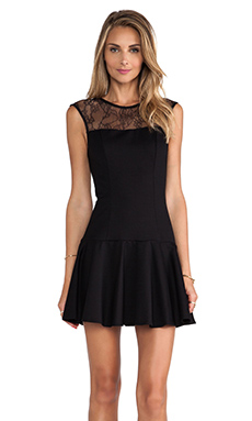 Karina Grimaldi Ryker Mini Dress in Black
