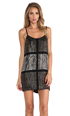 Karina Grimaldi Lugo Beaded Mini Dress in Black
