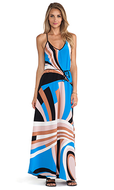 Karina Grimaldi Bolonia Printed Maxi Dress in Fall Aruba