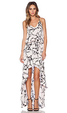 Karina Grimaldi Alma Print Maxi Dress in Natural Stone