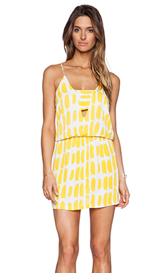 Karina Grimaldi Matilda Mini Dress in Lemon
