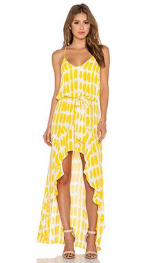 Karina Grimaldi Alma Maxi Dress in Lemon