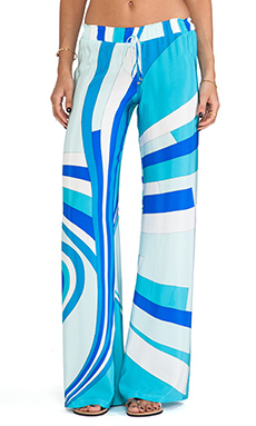 Karina Grimaldi Maui Wide Leg Pants in Blue Aruba