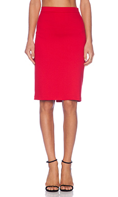 Karina Grimaldi Estrella Pencil Skirt in Red