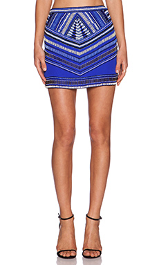 Karina Grimaldi Draco Beaded Skirt in Royal