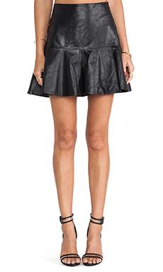 Karina Grimaldi Paloma Leather Skirt in Black