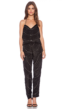 Karina Grimaldi Destiny Beaded Jumpsuit in Black