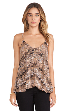 Karina Grimaldi Nikita Printed Cami in Natural Pebbles