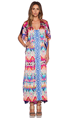 K A S New York Kendra Caftan Maxi Dress in Multi