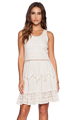 K A S New York Amira Mini Dress in Ivory