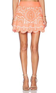 KAS New York Evetta Mini Skirt in Coral
