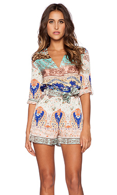 KAS New York Wioletta Romper in Multi