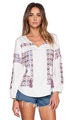 K A S New York Asha Blouse in White