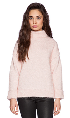 Kate Spade New York Shimmer Turtleneck in Blush