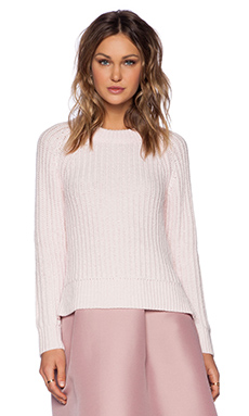 Kate Spade New York Winter Wool Side Zip Sweater in Blush