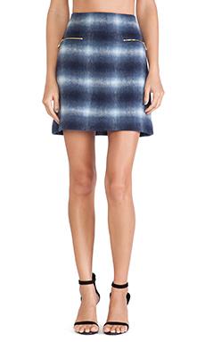 Kate Spade New York Zip Pocket Mini Skirt in Blue