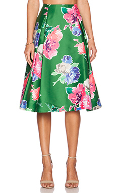 kate spade new york Blooms Lorella Skirt in Lucky Green