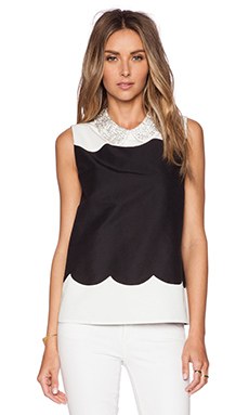 kate spade new york Francoise Top in Charcoal