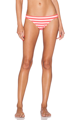 kate spade new york Georgica Beach Stripe Classic Bikini Bottom in Geranium