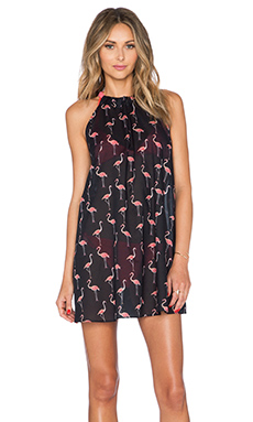kate spade new york Playa Flamingos Cover Up in Black