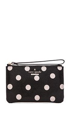 kate spade new york Bee Coin Purse in Black & Deco Beige