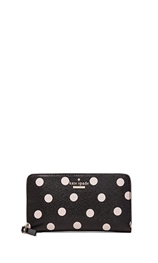 kate spade new york Lacey Wallet in Black & Deco Beige