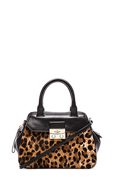 kate spade new york Small Adriana Messenger in Black & Leopard