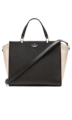 kate spade new york Hayden Shoulder Bag in Black & Pebble