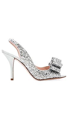 kate spade new york Charm Heel in Silver Grey Glitter